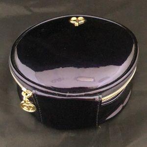 CLE DE PEAU Blue Round Makeup Case w Zipper